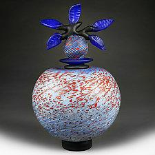Indigo Inspiration (Novi Zivot Luksuz) by Eric Bladholm (Art Glass Vessel)