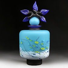 Vechirniy Kvity Yaskravo (Evening Flowers Bright) by Eric Bladholm (Art Glass Vessel)