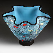 Sky Sketch by Eric Bladholm (Art Glass Vessel)