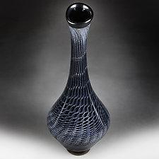 Onyx Osmosis Tall Vase Studio Sample by Eric Bladholm (Art Glass Vase)