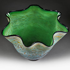 Emerald Eminence  Experimental Color Study by Eric Bladholm (Art Glass Vase)