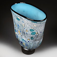 Teal Tapestry by Eric Bladholm (Art Glass Vessel)
