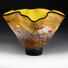 Monarch Motion Experimental Shape by Eric Bladholm (Art Glass Vessel)