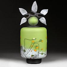 Spring Green Cylinder by Eric Bladholm (Art Glass Vessel)