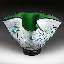 Forest Foray Experimental Shape by Eric Bladholm (Art Glass Vessel)