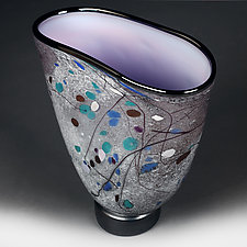 Winter Wisteria Studio Sample by Eric Bladholm (Art Glass Vessel)