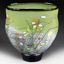 Lively Leaf by Eric Bladholm (Art Glass Vessel)