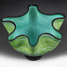 Emerald Essence II by Eric Bladholm (Art Glass Vessel)