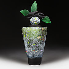 Letnje Polje (Summer Fields) Tall Tapered Cylinder by Eric Bladholm (Art Glass Bottle)