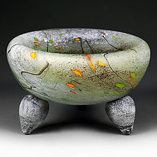 Mercurial Meadow Studio Prototype by Eric Bladholm (Art Glass Bowl)