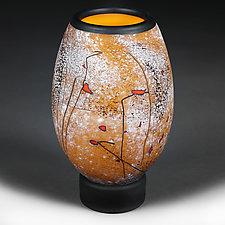 Osinni Yabluka (Autumn Apples) Petite Vase by Eric Bladholm (Art Glass Vase)