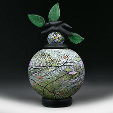 Letnje Polje (Summer Fields) Sphere by Eric Bladholm (Art Glass Bottle)