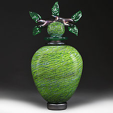 Emerald Empire (Novi Zivot Luksuz) by Eric Bladholm (Art Glass Vessel)
