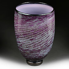 Violet Vortex Vase Experimental Color Study by Eric Bladholm (Art Glass Vase)
