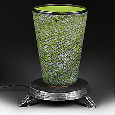 Verdant Venetian  Table Lamp - Studio Prototype by Eric Bladholm (Art Glass Table Lamp)