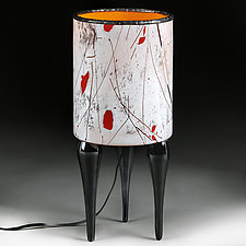 Zimsko Svetlo (Winter Light) Studio Sample Lamp by Eric Bladholm (Art Glass Table Lamp)