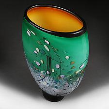 Emerald Elegance by Eric Bladholm (Art Glass Vase)