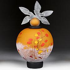 Letnje Jabuke (Summer Apples) Studio Prototype by Eric Bladholm (Art Glass Vessel)