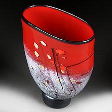 Valliant Vermilion Experimental Color Prototype by Eric Bladholm (Art Glass Vessel)