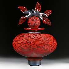 Persimmon Persian (Novi Zivot) by Eric Bladholm (Art Glass Vessel)