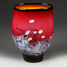 Small Regal Ruby by Eric Bladholm (Art Glass Vessel)