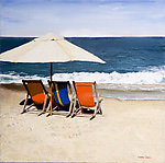 Reservations For Three by Laurie Regan Chase (Giclee Print)
