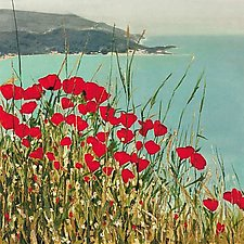 Poppies by Laurie Regan Chase (Giclee Print)