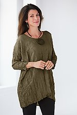 Relaxed Fit Crushed Silk Tunic by Carol Lee Shanks (Silk Tunic)