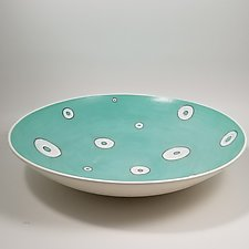 Turquoise Bowl by Lori Katz (Ceramic Bowl)