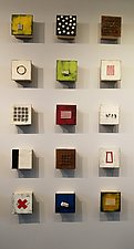 Fifteen, Group Three by Lori Katz (Ceramic Wall Sculpture)