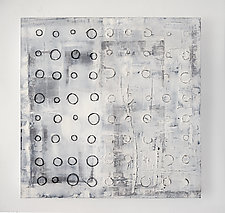 Shadow Grid by Lori Katz (Mixed-Media Painting)