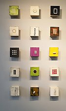 Fifteen, Group One by Lori Katz (Ceramic Wall Sculpture)