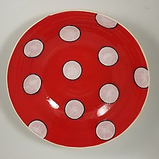 Red Bowl by Lori Katz (Ceramic Bowl)