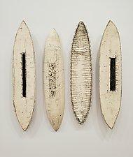 Wiry Pods by Lori Katz (Ceramic Sculpture)