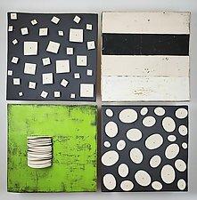 Green Fins by Lori Katz (Ceramic Wall Sculpture)