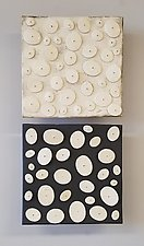 Disk Pair by Lori Katz (Ceramic Wall Sculpture)