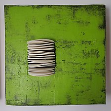 Wall Square Grouping by Lori Katz (Ceramic Wall Sculpture)