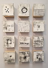 Black and White II by Lori Katz (Ceramic Wall Sculpture)