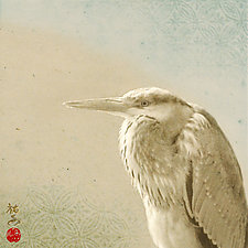Song of a Gray Heron by Yuko Ishii (Color Photograph)