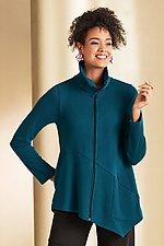 Mini Rib Crosstown Zip Jacket by F.H. Clothing Co. (Knit Jacket)
