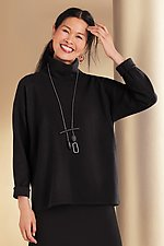 Mini Rib Turtleneck Top by F.H. Clothing Co. (Knit Top)