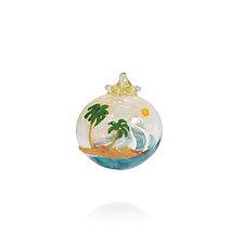 Island Breeze by Lucky Ducks Glass (Art Glass Ornament)