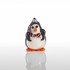 Penguin Suit by Lucky Ducks Glass (Art Glass Ornament)