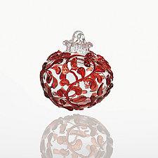 American Beauty by Lucky Ducks Glass (Art Glass Ornament)