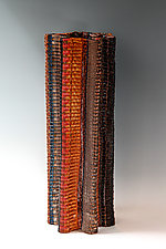 Pleated Vessel 2 by Frances Solar (Copper Vessel)