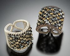 Plaited Mix-Tone Ring by Tana Acton (Gold, Silver & Stone Ring)