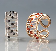 Kinetic Rings with Gemstones by Tana Acton (Silver & Stone Ring)