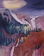 Storm in the Rockies by Sandra Humphries (Acrylic Painting)