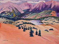 Colorado Mountains 2 by Sandra Humphries (Acrylic Painting)