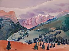 Colorado Mountains 1 by Sandra Humphries (Acrylic Painting)